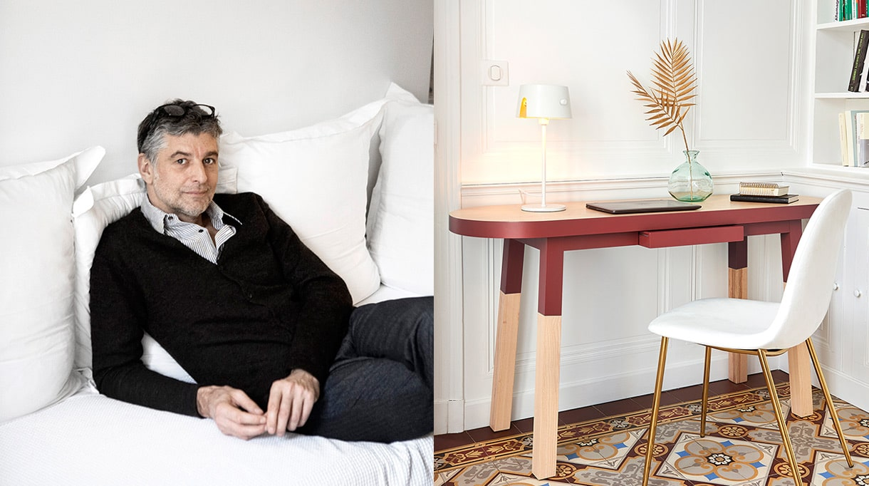 mon petit meuble francais - mobilier made in france - eric gizard -savoir faire francais - console - meuble peint - couleur rouge - signatures singulieres - le magazine des talents français