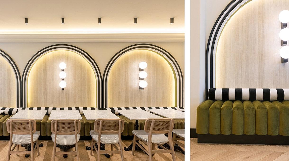 agence bleu gris- decorateurs d'interieur - cafe hoche a cannes - Little Greene - nobilis - signatures singulieres magazine