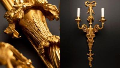 remy garnier - applique 18eme en bronze dore - signatures singulieres magazine
