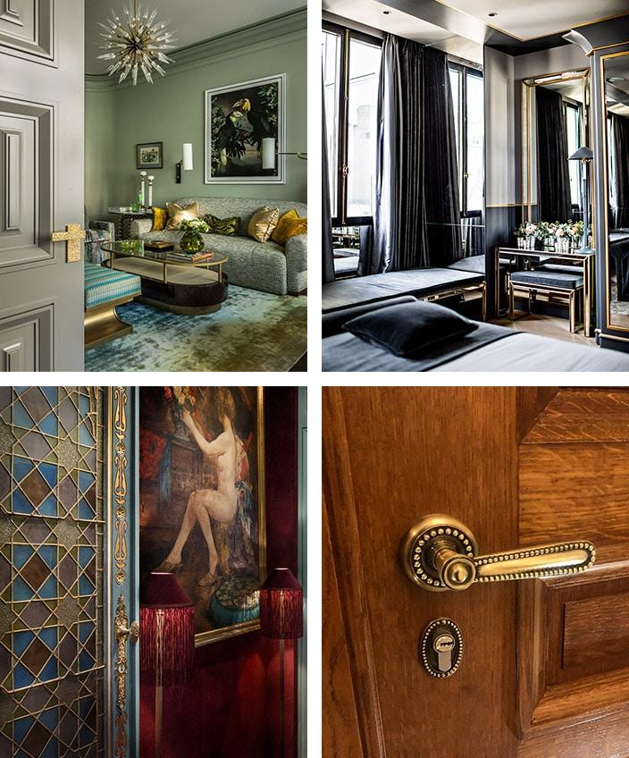 remy garnier - poignee de porte en bronze - cremone de fenetre - maison villeroy - hotel monsieur george - maison souquet - signatures singulieres magazine