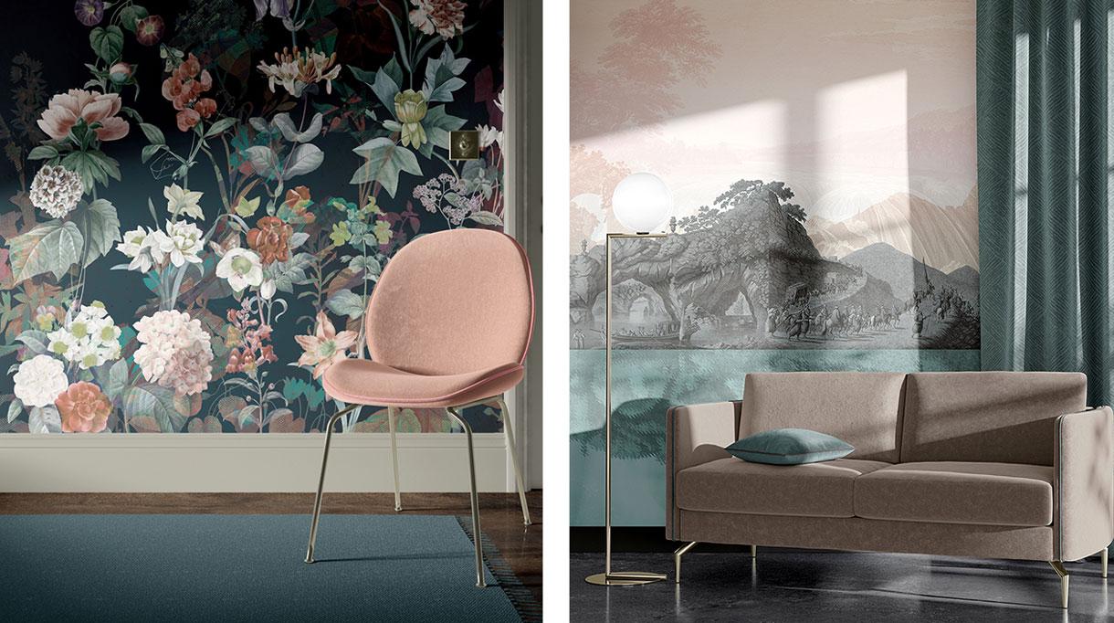 quinsai - panoramique motif paysage - panoramique motif de fleurs - papier peint paysage - signatures singulieres magazine