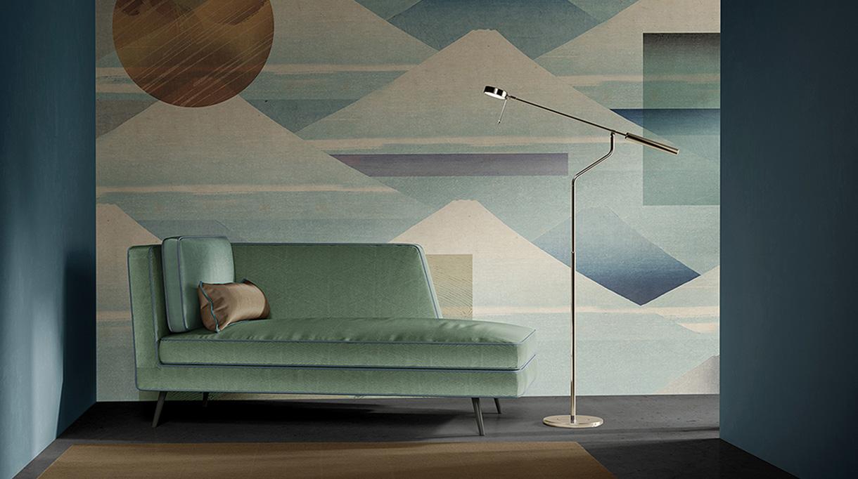 quinsai - papier peint panoramique forme geometrique - signatures singulieres magazine
